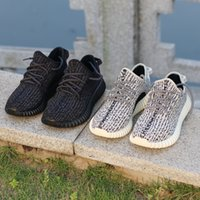 Wholesale Freeshipping boost shoes man and woman size black turtle dove oxford tan moonrock with shoesbox Kanye West
