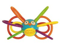 baby grabs - Colorful Baby Ball Toy Rattles Baby grab bell ball hand bell can bite with a green material cm WJ280