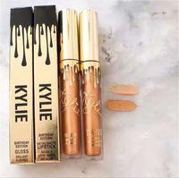Wholesale 2016 Kylie lipstick kylie Limited Birthday Edition Kylie jenner Matte liquid Lipstick mini gold kylie lip kit Gloss