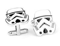 Wholesale cuff links Star Wars imperial stormtroopers cufflinks cufflinks men cufflinks men s fashion jewelry cufflinks cuff links knots XK81