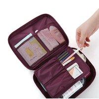 bathroom travel bags - Women Portable Cosmetic Bags Waterproof Nylon Travel Toilet Kits Organizer Storage Beauty Makeup Bag Wash Bathroom Toiletry Bags
