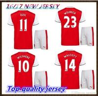 arsenal club - Arsenal suit home Shirts Jersey WILSHERE OZIL WALCOTT RAMSEY ALEXIS boy club suit jerseys shirt Unifor