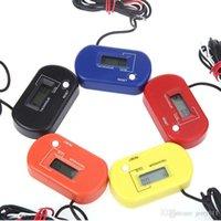 Wholesale Digital Hour Tach Meter Gauge Tachometer Resettable LCD h RPM Yellow Black Orange Blue Red colors