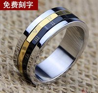 Wholesale Men Rome couple digital ring jewelry retro fashion personality and domineering transport South Korea steel ring