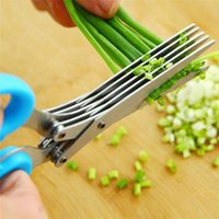 Wholesale Home fruit vegetable tools kitchen accessories cooking tools Blade Herb Scissors Cleaner Stainless Blades Kitchen Tool