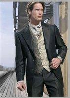 bespoke clothing - New Men Wedding Prom Clothing Groom Tuxedos Wear Bridegroom Suit Bespoke Wedding Suits For Men Best Man Suits Clothes Pants Tie Vest