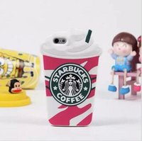 apple tea bags - Coffee Milk Tea Cup Bottle Cartoon Cover Case for iPhone s inch High Quality Silicone Protective Shell Bag