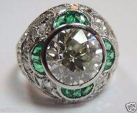 antique estate diamond ring - Antique European Diamond Engagement Ring Size Platinum EGL USA Art Deco Estate