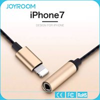 Wholesale JOYROOM mm Headphone Jack Adapter Connector Aluminum Charging and Aux Output Connector for iphone plus S