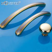 bathroom door pulls - 5pcs Gold Door Handle Modern Hardware Kitchen Cupboard Cabinet Bathroom Handle Solid Drawer Pull