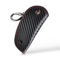 audi leather case - 1pc New D Leather Carbon Fiber Remote Key Case chain keyless Fob cover Holder for Audi BMW Volkswagen Honda Toyota Mazda Lexus