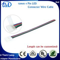 Wholesale Brand New mm Pin Connector Wire Adapter For SMD RGB LED Strip Light Connector Cable