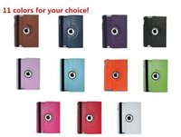 Wholesale 360 Degrees Rotating Flip Smart Seep Wake up Cover PU Leather Stand Case for iPad Air iPad Mini degree rotate dhl shipping