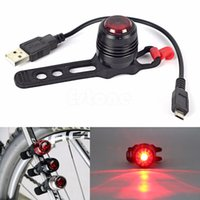 Wholesale Handy Bicycle Mode Rechargeable Front Rear Tail Helmet Safe Light Warning Lamp