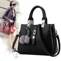 ball tote - Hot Sale New Fashion Bags Hair Ball Women Handbags Simple Handbags European and American Women Diagonal Shoulder Bags
