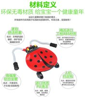 Wholesale Ladybird beetle four scooters shilly car with music mute round hair posing naked car shook his car