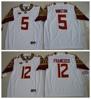 Wholesale 2016 Florida State Seminoles Jameis Winston Deondre Francois College Football Limited Jersey White Mens Rugby Jerseys
