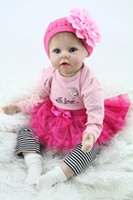 Wholesale 22 quot silicone reborn baby dolls lifelike reborn babies toys for children gift bonecas
