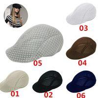 Wholesale New Arrivals Unisex Men s Women s Lady s Flat Berets Caps Sunshade Hats Breathable Summer Flax Autumn GA461