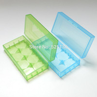 Wholesale Transparent battery case storage case Colors box for batteries plastic battery box holder