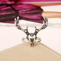 acrylic modeling - 2016 New Fashion Elaphurus Rings Fashion Female Gold Plated Jewelr Rings Unique Gift Animal Modeling Rings