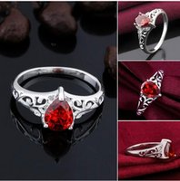 Wholesale fashion jewelry fashion sterling silver rings hollow droplets two kinds of colors
