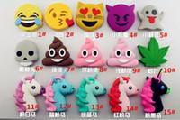 Wholesale New Carton Design Emoji Unicorn mah Powerbank with Soft Pvc Material Poop Devil Models for Phone Charging