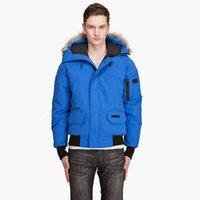 bear polar jacket - Save Canada Down Goose Polar Bears International Chilliwack Bomber Jacket Mens Warm Parka Fur Collar Hooded Outwear Winter Outdoor Parka