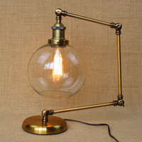 adjustable arm floor lamp - Vintage Table Lamp American Bar Iron Desk Light Adjustable Loft Designer Style Is The Folded Floor Lamp Long Arm