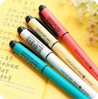 Wholesale 12 Candy Color Korean Style MM Gel Pen for School Kids Stationery Supplies
