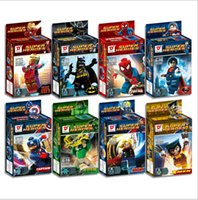 Wholesale Super Heroes Bricks Kids Building Blocks Toys for Boys Girls as Gifts On Birthday Chrismas styles a Set