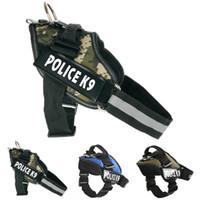 Wholesale Dog Collar Police K9 Dog Harness Vest Nylon Reflective Pulling in Training Domineering Large Dog Suit For Medium Lage Dog Breeds