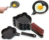 Wholesale Cooking egg tools kitchen gadgets Mini cartoon Cake tools pot Fried Egg Pancake love Heart Shape Egg non stick Pan