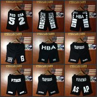 Wholesale Hot men s summer casual shorts HBA cotton basketball compression shorts sport hip hop short trousers for men