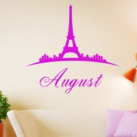 Wholesale Eiffel Tower In Paris Vinyl Wall Decals Stickers Home Decoration Art DIY