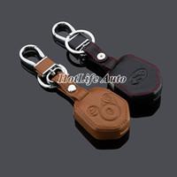 Wholesale 2014 Subaru XV Car Keychain Genuine Leather Key Fob Case Cover for Subaru XV Key Chain Ring Car Accessories