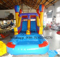 backyard water slides - 2016 colorful inflatable bouncer and slide combo inflatable pool slide water slide for kids and adults