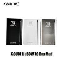 achat en gros de x contrôle de zone-SMOK Véritable X CUBE II 160W TC Box Mod Xcube 2 Température Bluetooth de contrôle 18650 Mod pour 510 fil Sub Ohm réservoir