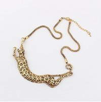 abc punk - ABC jewelry fashion pop New Popular Big Punk Exaggerated Metal Leopard Necklace for Women Personalized animals Necklace