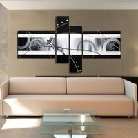 Wholesale wall decor oil painting modern oil painting on canvas abstract painting black white pop art cheap modern paintings
