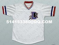 Wholesale Deluxe Edition Men s Crash Davis Bull Durham Baseball Jersey white or customize any number any name embroidery jerseys