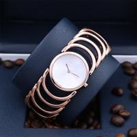 Relojes de oro de las mujeres del oro de Rose Reloj femenino de la manera del cuarzo de las maneras de la moda femenina Reloj Relojes Mujer
