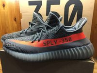 newest basketball shoes - Newest Kanye West SPLY Season Boost Grey Orange Running Shoes Correct Version lines Real Boost TPU Bottom Size