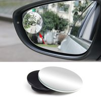 Wholesale Car Styling PC Clear Car Rear View Mirror Rotating Safety Wide Angle Blind Spot Mirror Parking Round Convex Accessories
