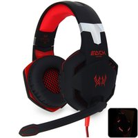 Wholesale Gaming Headphone Deep Bass Games Headsets with Mic Stereo Bass LED Light Headband Earphone for PC Gamer G2100 Vibration Function Professiona