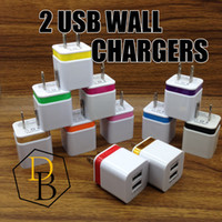 ac power plug adapter - Wall Chargers V A US Plug usb charger adapter Universal AC Power Adapter For Iphone Samsung S5 S4 Note LG HTC