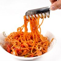 Wholesale Stainless Steel Pasta Clip Clamp Cooking Tools Kitchen BBQ Tong Buffet Party Catering