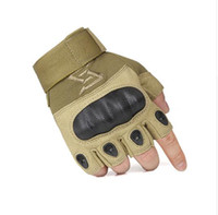 armor soldier - Outdoor riding sports climbing hiking vacation wear non slip gloves for men Tactical equipment armor half finger gloves Free soldier