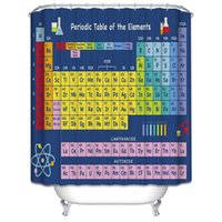 Wholesale Customs W x H Inch Shower Curtain Periodic Table Of The Elements Waterproof Polyester Fabric Shower Curtain