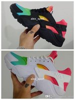 Wholesale 2016 New Brand Huaraches Rainbow Running Shoes For Men Women Air Huarache Shoes Black Air Huarache White Multicolor Sneakers Size